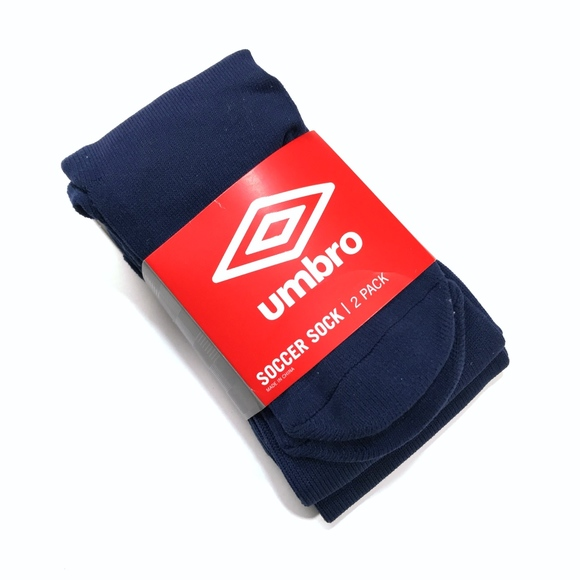 8412fc5ff8da NEW Umbro Navy Blue Soccer Socks 2-Pack Size XS